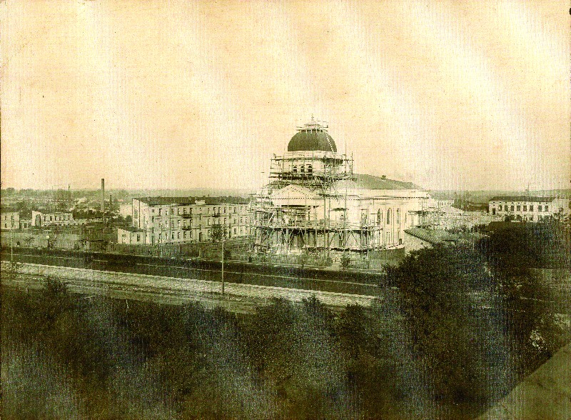 A view of the former New Synagogue in Częstochowa, early 20th century