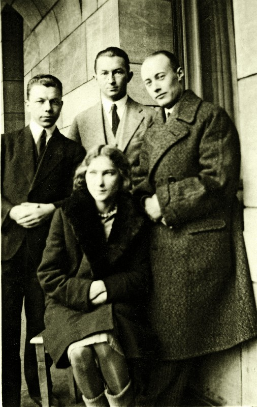 Stefan Korboński (standing in the middle) at the beginning of his legal career, Poznań, 1926–1929