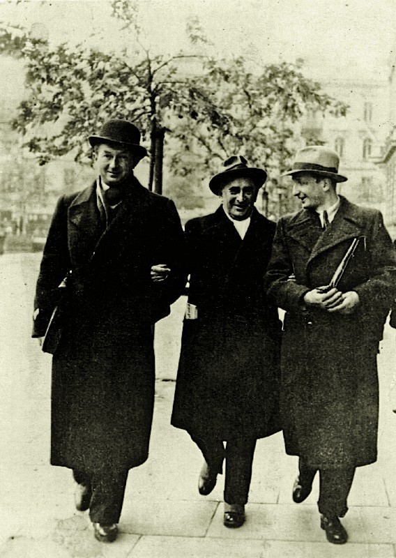 Warsaw lawyers, from left: Stefan Korboński, Leon Berenson and Jerzy Gliksman, 1930s